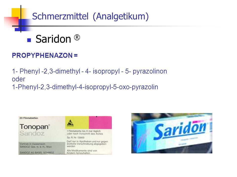 Schmerzmittel (Analgetikum)