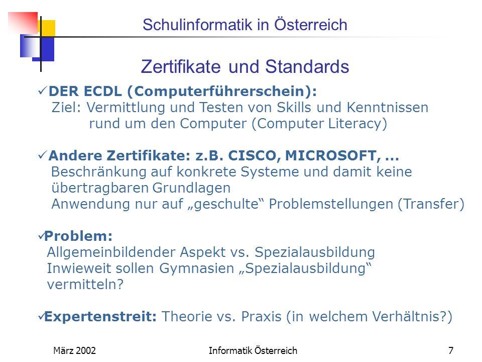 Zertifikate und Standards
