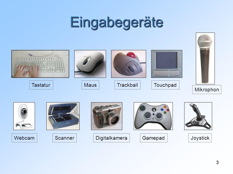 Eingabegeräte Tastatur Maus Trackball Touchpad Mikrophon Webcam