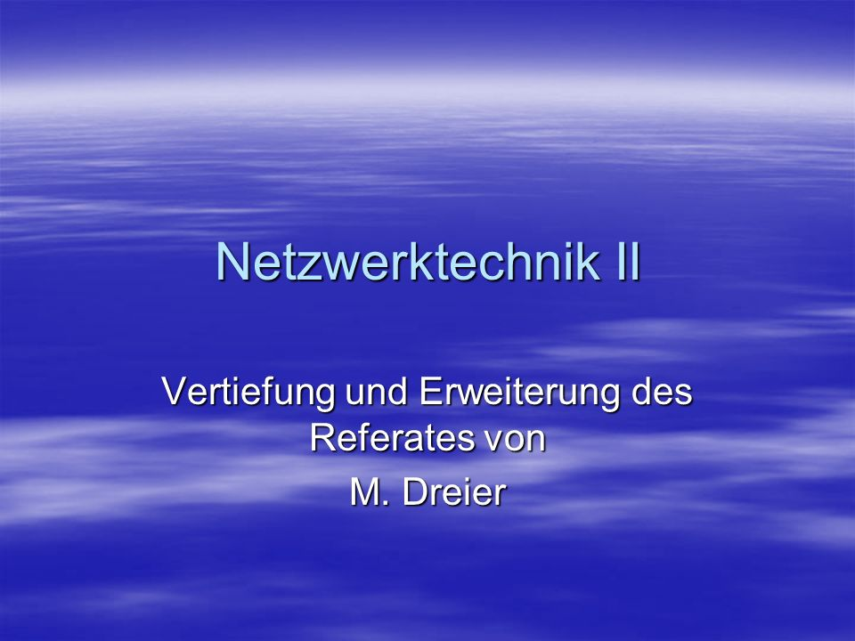 Vertiefung und Erweiterung des Referates von M. Dreier
