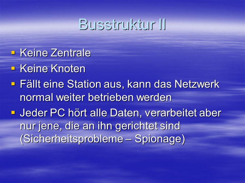 Busstruktur II Keine Zentrale Keine Knoten