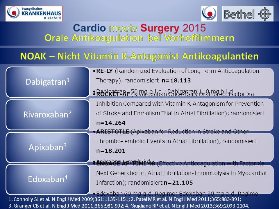 NOAK – Nicht Vitamin K-Antagonist Antikoagulantien
