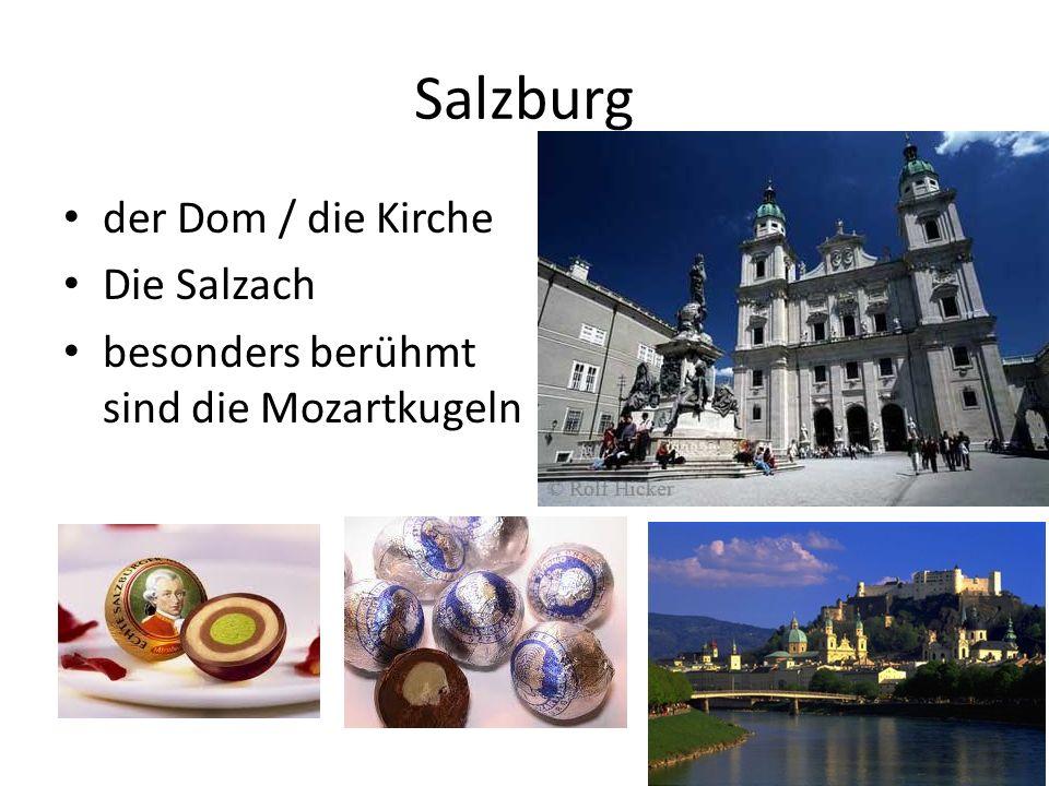 Salzburg der Dom / die Kirche Die Salzach