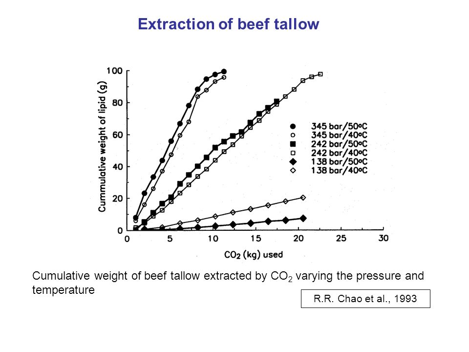 Extraction of beef tallow