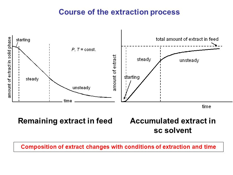 Course of the extraction process
