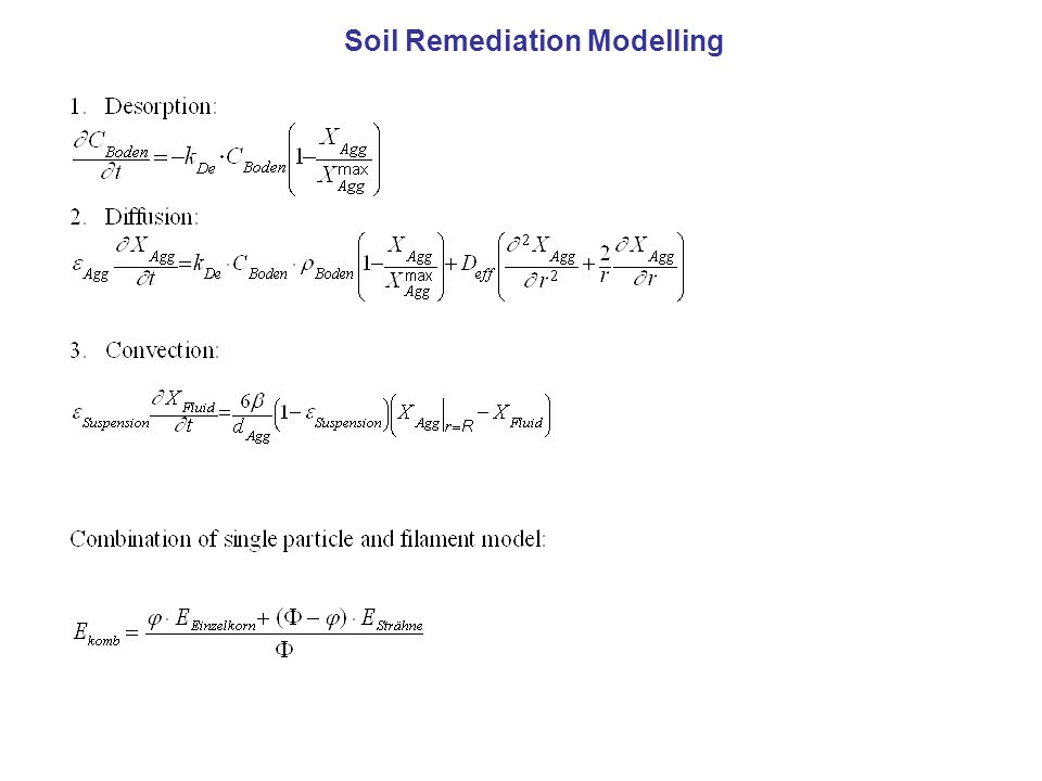 Soil Remediation Modelling