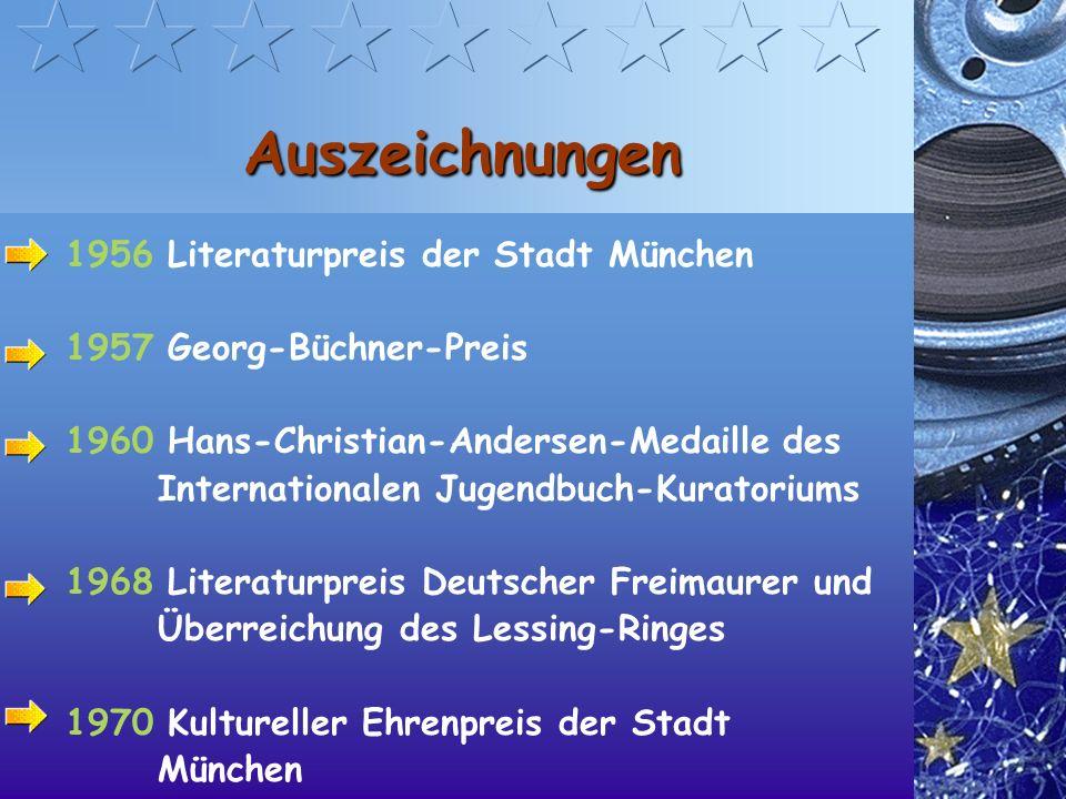 Auszeichnungen 1956 Literaturpreis der Stadt München