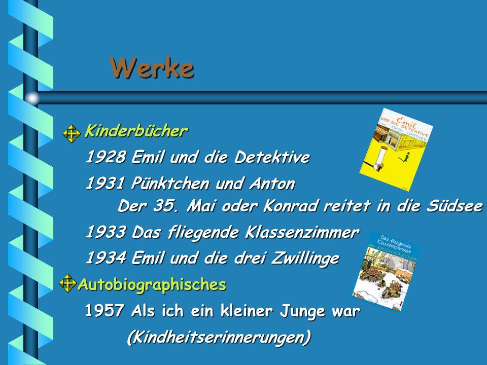 Werke Kinderbücher 1928 Emil und die Detektive