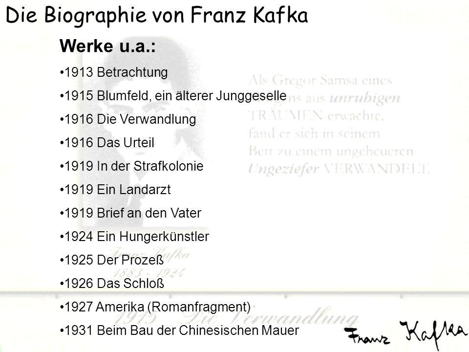 Die Biographie von Franz Kafka