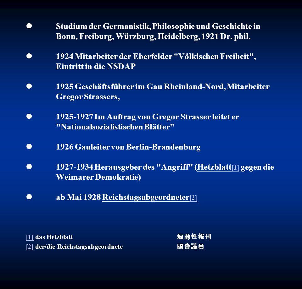 l. Studium der Germanistik, Philosophie und Geschichte in