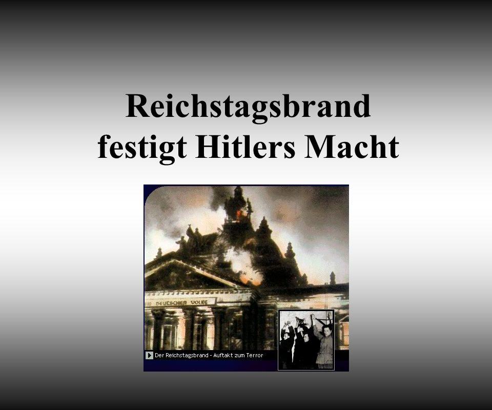 Reichstagsbrand festigt Hitlers Macht