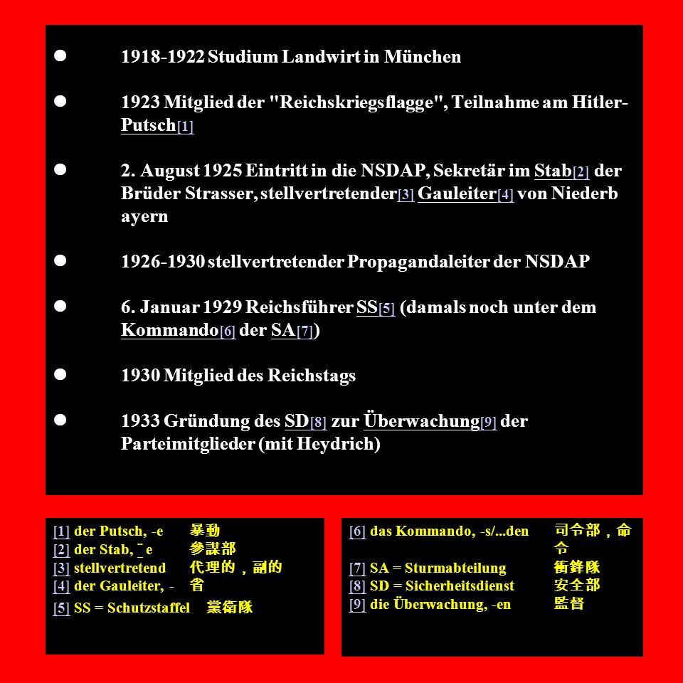 l. 1918-1922 Studium Landwirt in München l