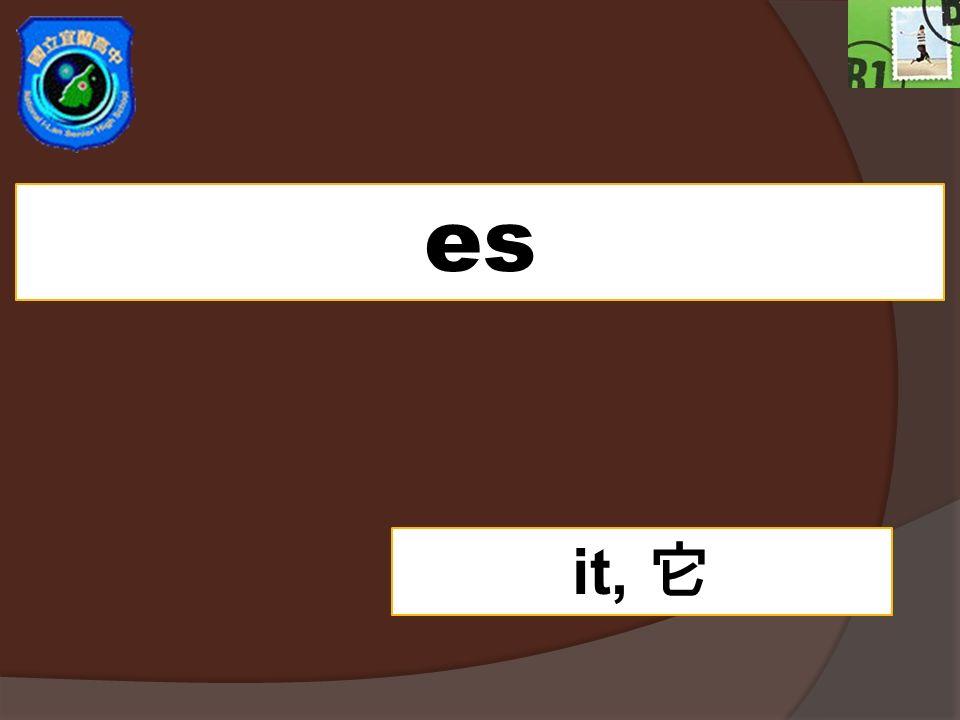 es it, 它