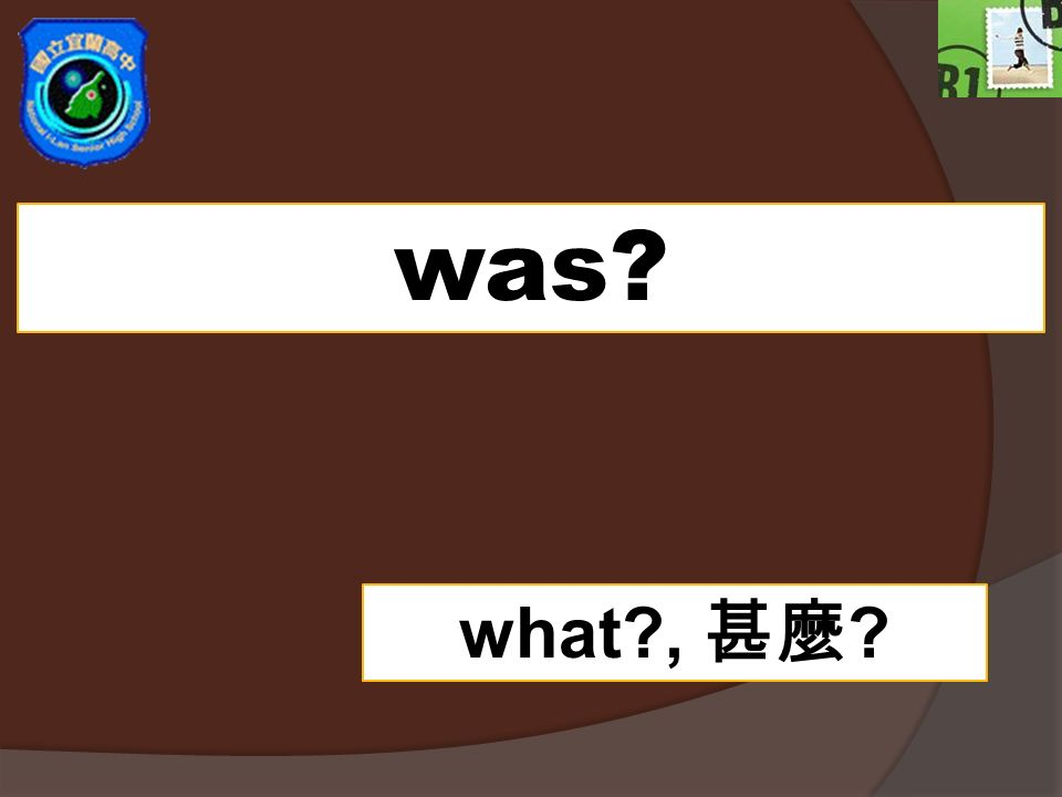 was what , 甚麼