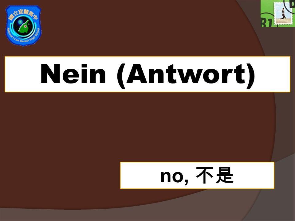 Nein (Antwort) no, 不是