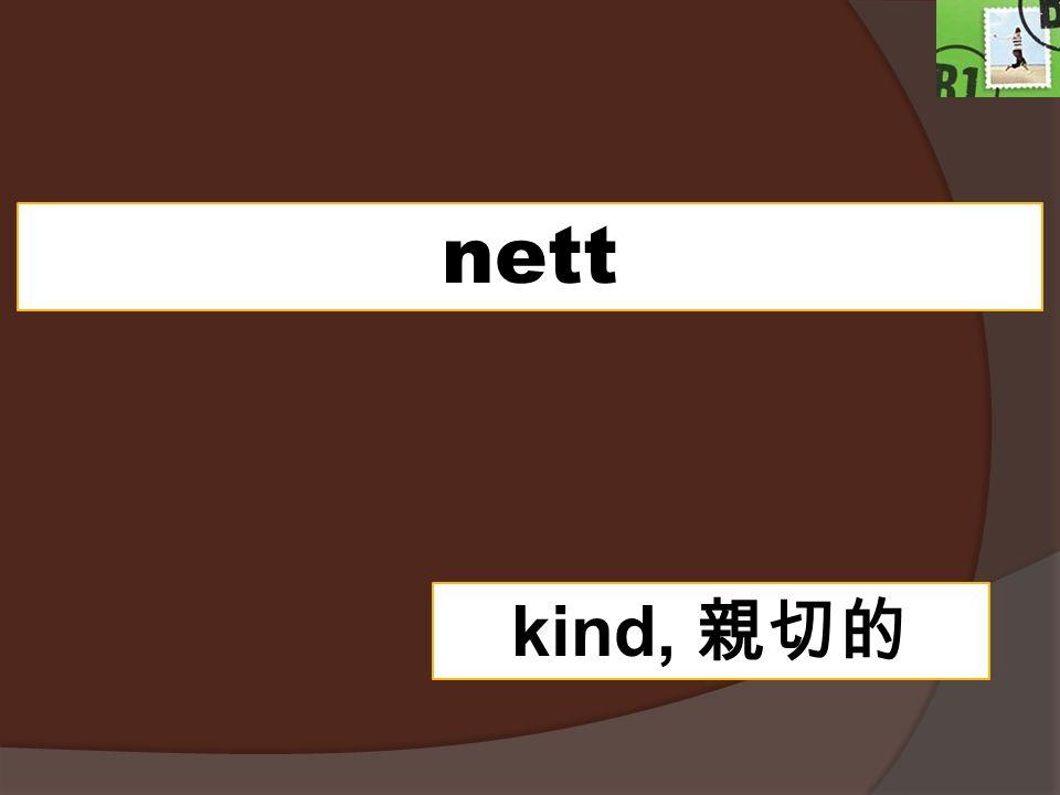 nett kind, 親切的