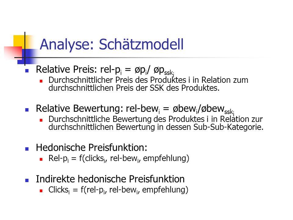 Analyse: Schätzmodell