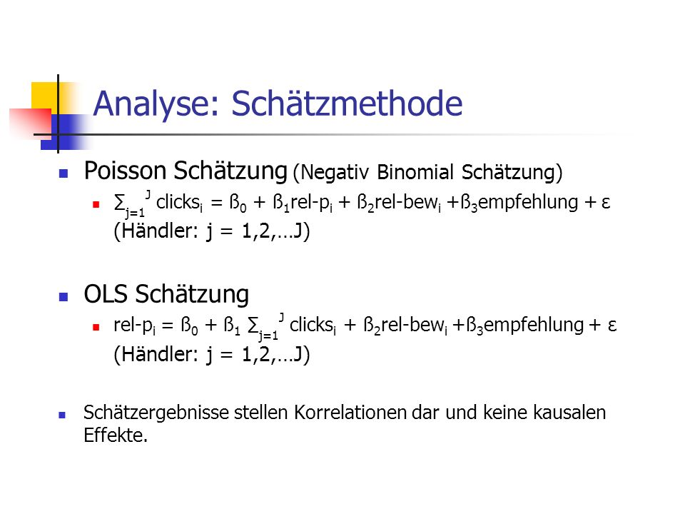 Analyse: Schätzmethode