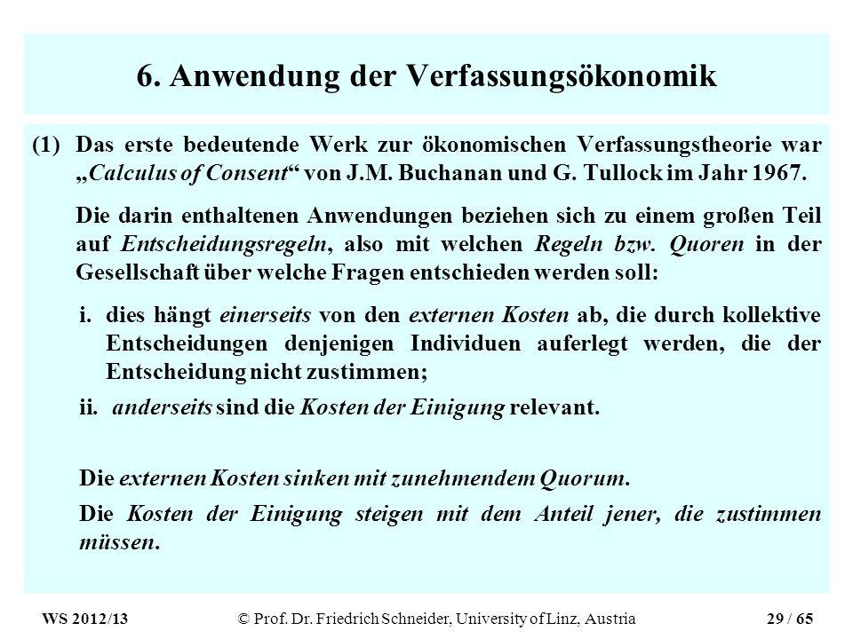 6. Anwendung der Verfassungsökonomik