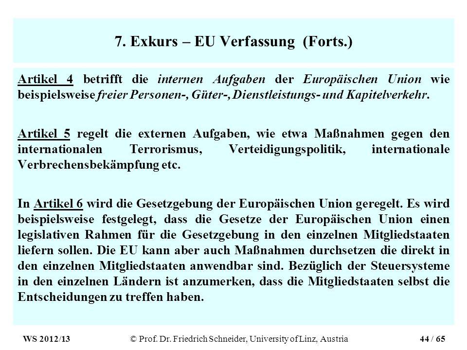 7. Exkurs – EU Verfassung (Forts.)