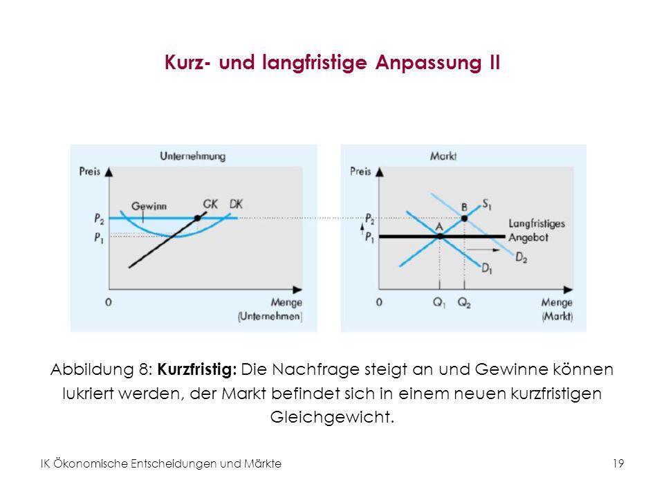 Kurz- und langfristige Anpassung II