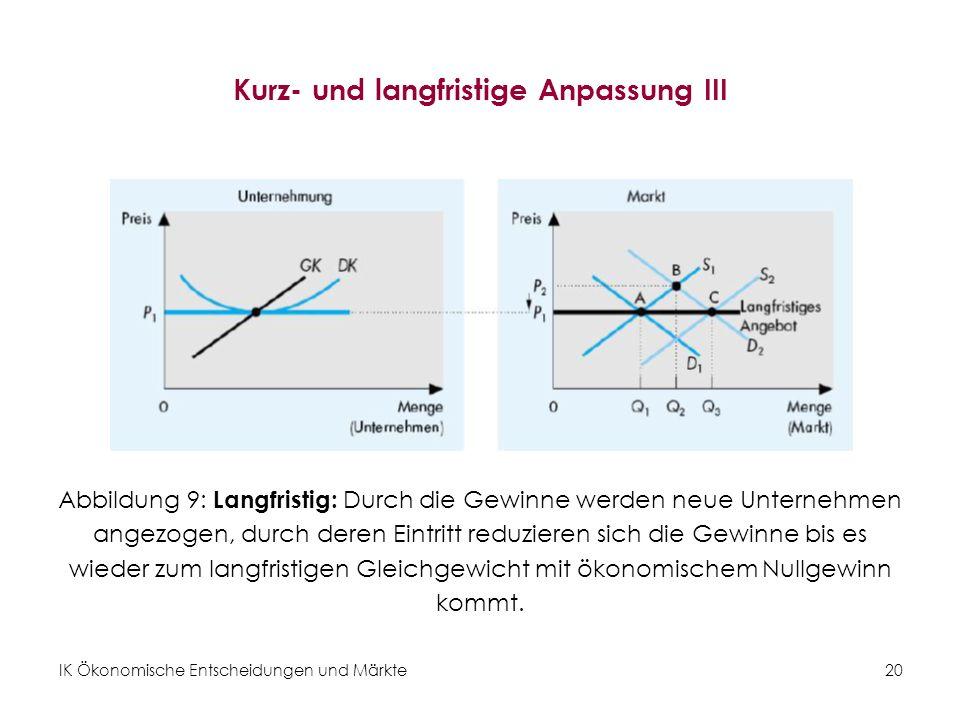Kurz- und langfristige Anpassung III