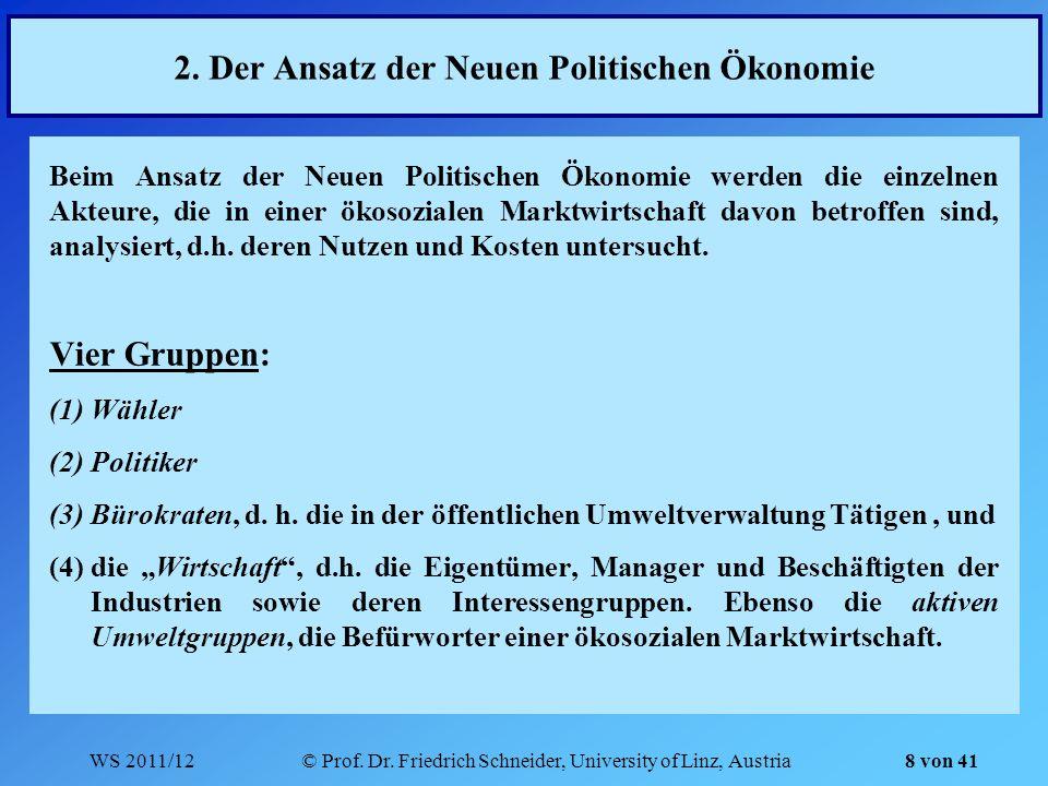 2. Der Ansatz der Neuen Politischen Ökonomie