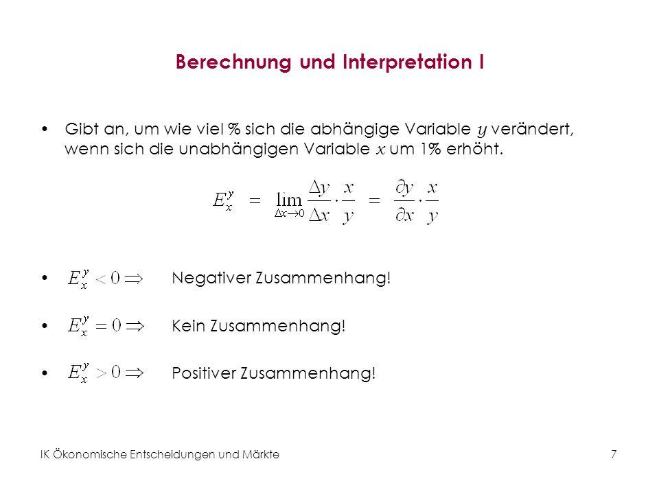 Berechnung und Interpretation I