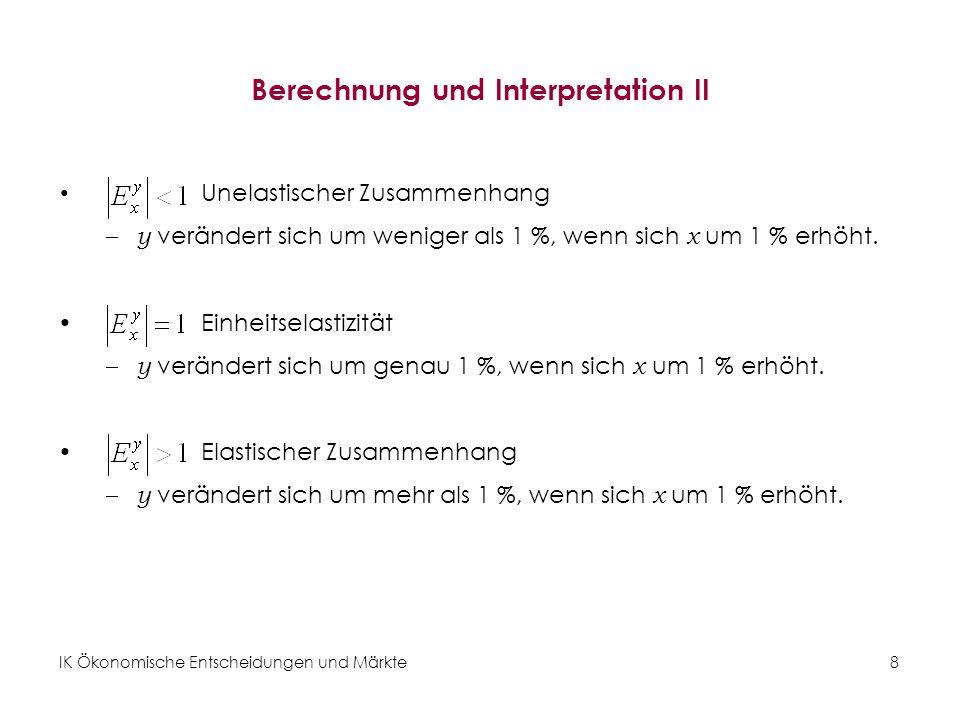 Berechnung und Interpretation II