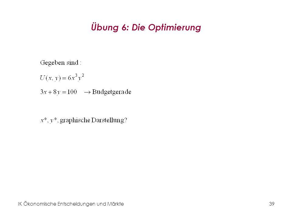 Übung 6: Die Optimierung
