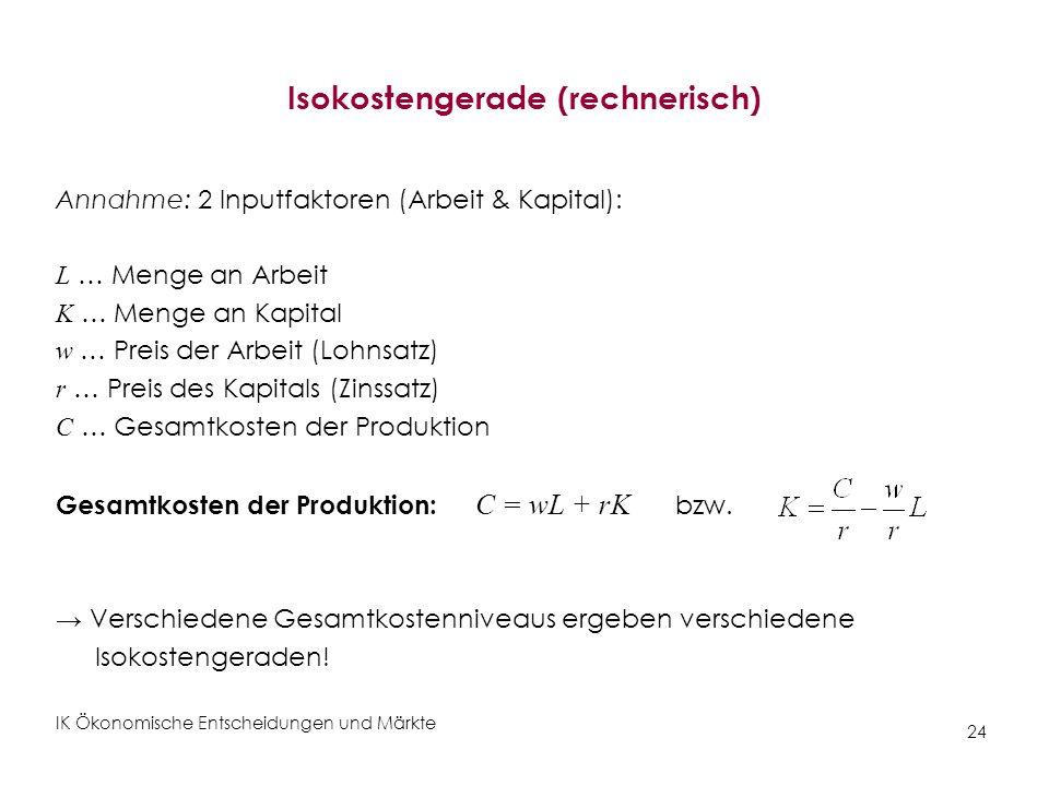 Isokostengerade (rechnerisch)
