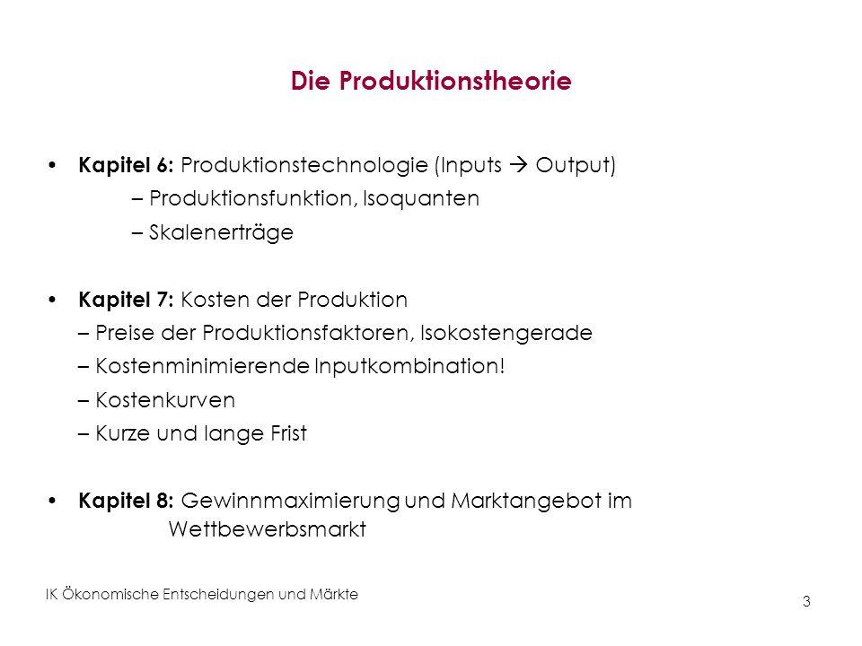 Die Produktionstheorie