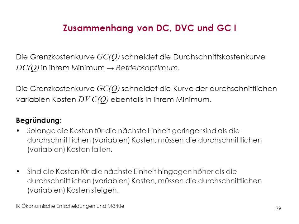 Zusammenhang von DC, DVC und GC I