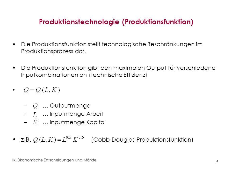 Produktionstechnologie (Produktionsfunktion)