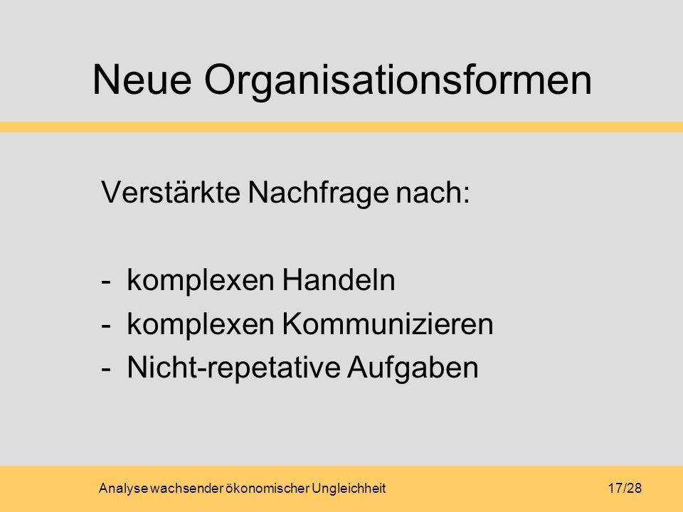 Neue Organisationsformen