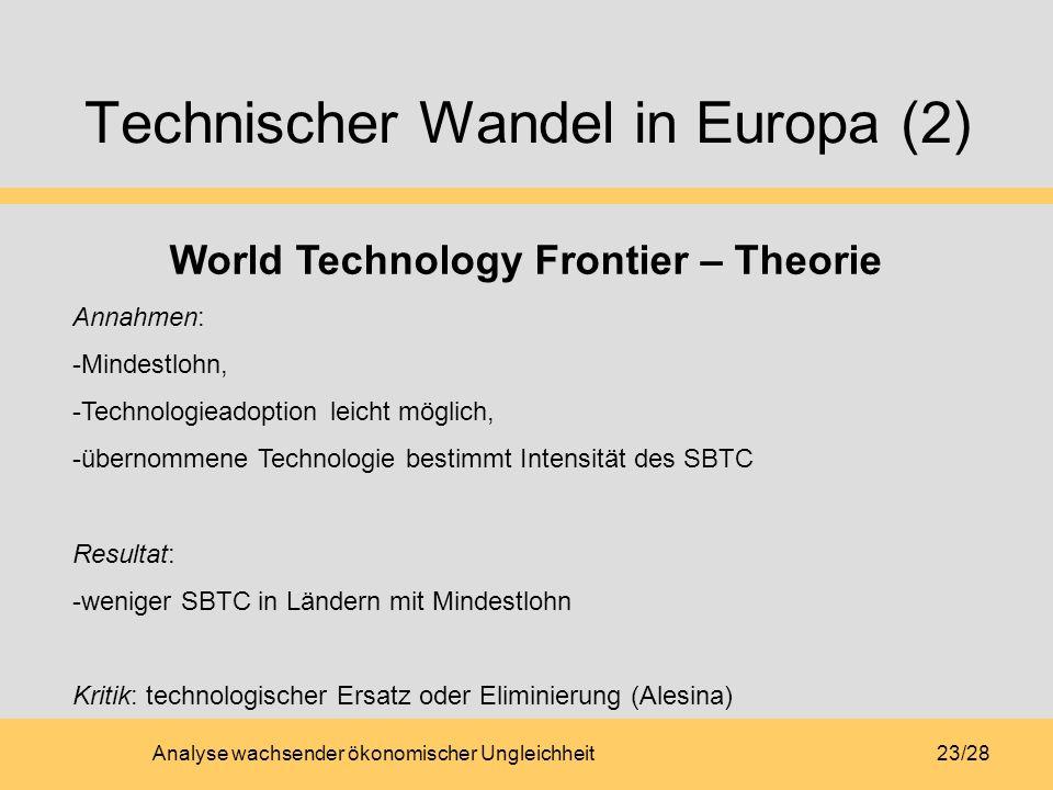 Technischer Wandel in Europa (2)