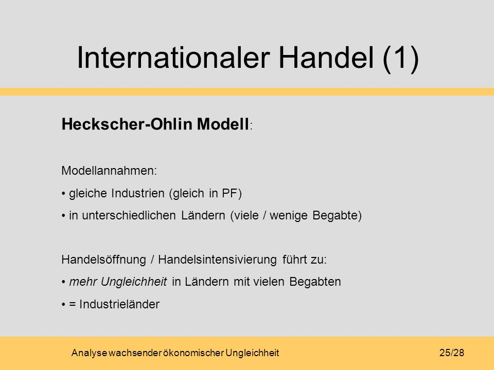 Internationaler Handel (1)