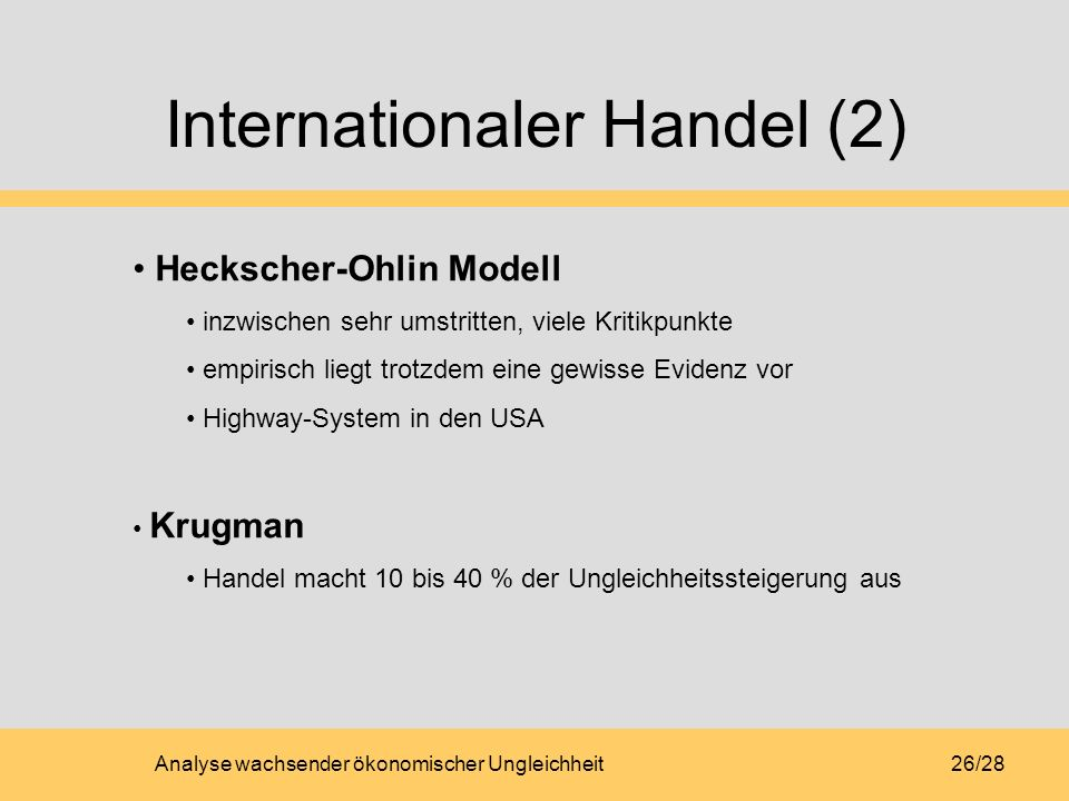 Internationaler Handel (2)
