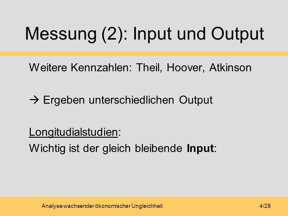 Messung (2): Input und Output
