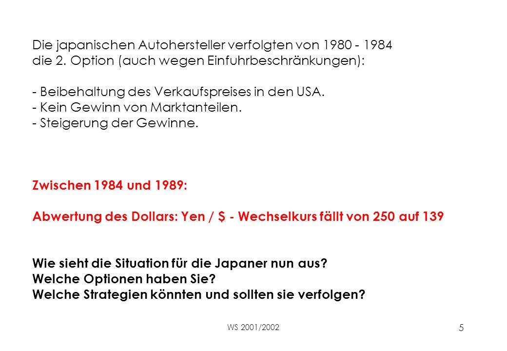 Die japanischen Autohersteller verfolgten von 1980 - 1984