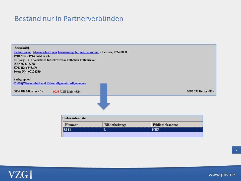 Bestelldatenaustausch VFL