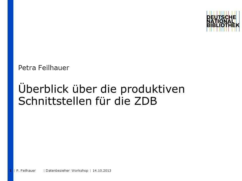 Überblick über die produktiven Schnittstellen für die ZDB