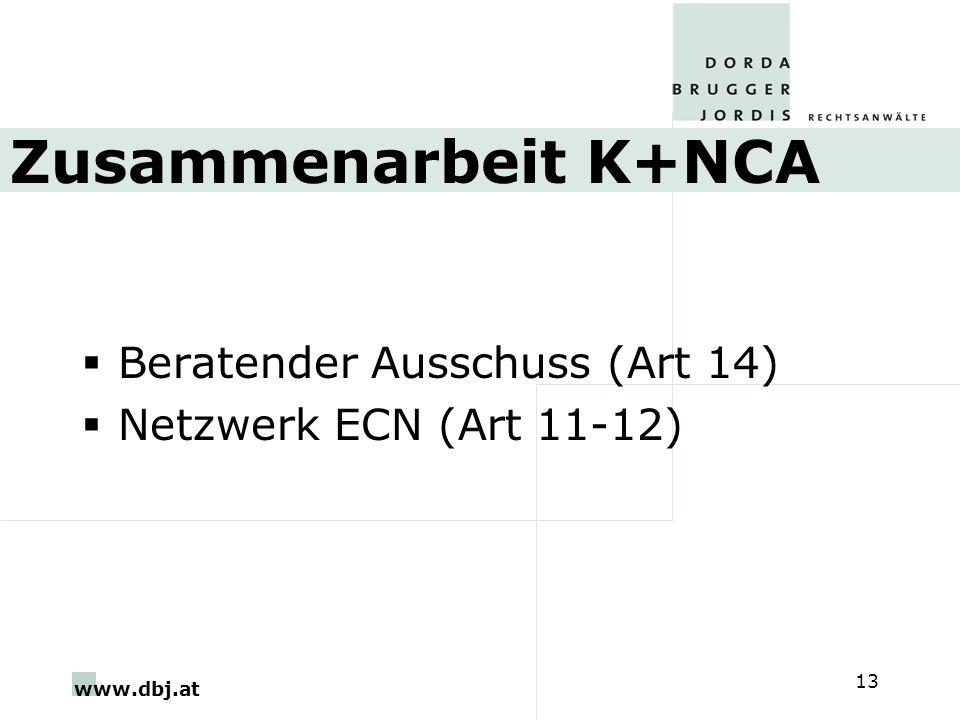 Zusammenarbeit K+NCA Beratender Ausschuss (Art 14)