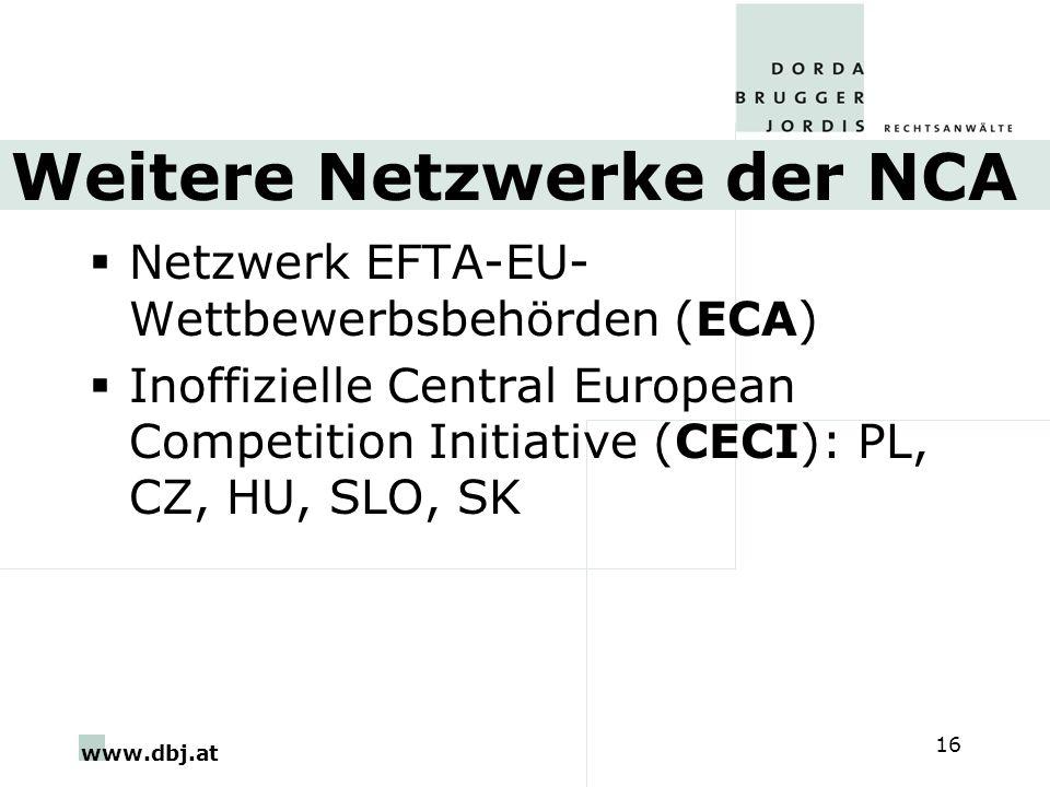 Weitere Netzwerke der NCA