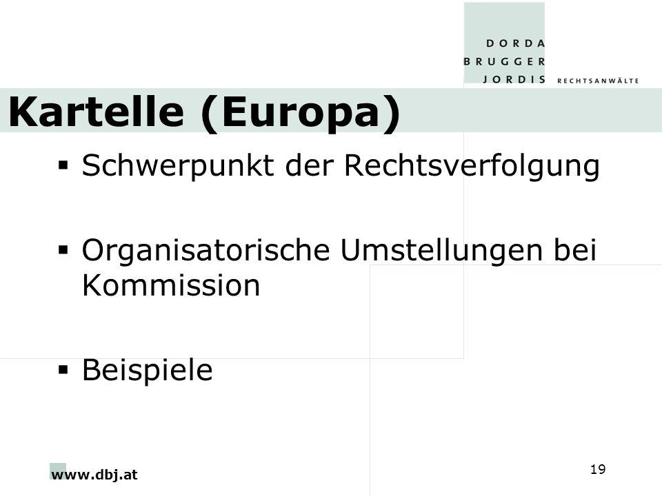 Kartelle (Europa) Schwerpunkt der Rechtsverfolgung