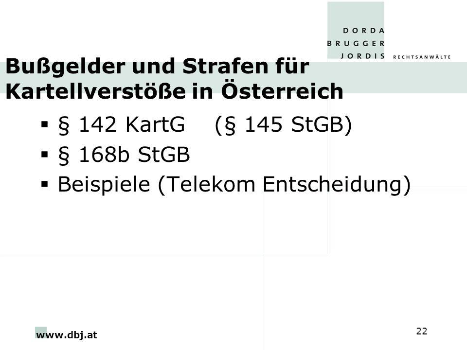 Bußgelder und Strafen für Kartellverstöße in Österreich