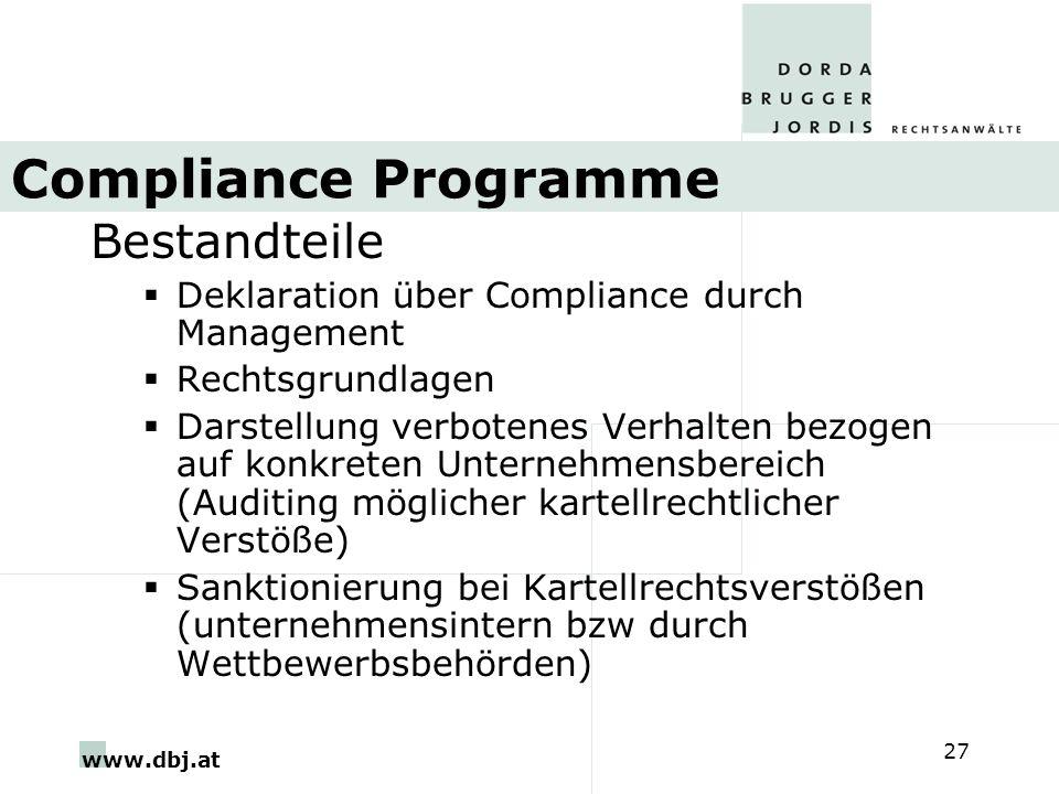 Compliance Programme Bestandteile