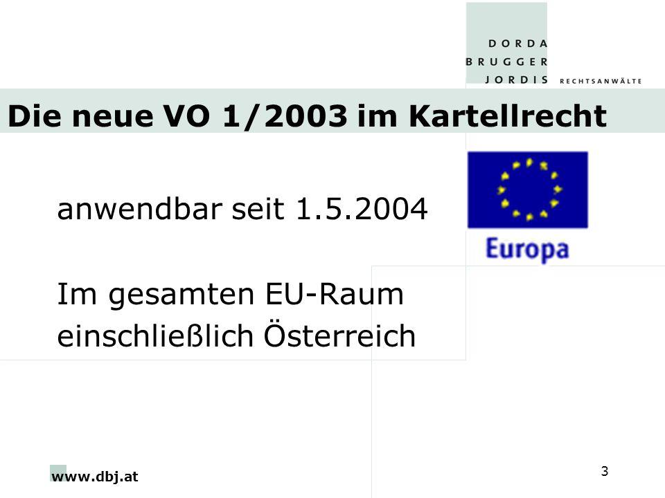 Die neue VO 1/2003 im Kartellrecht