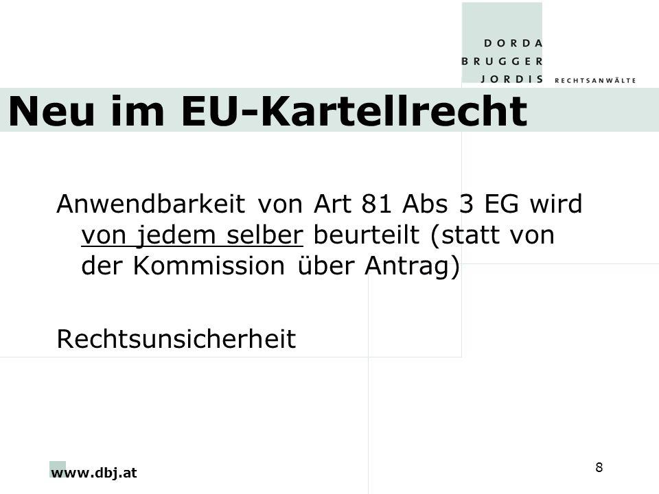 Neu im EU-Kartellrecht