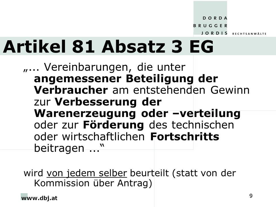 Artikel 81 Absatz 3 EG